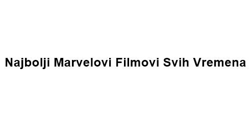 Marvel filmovi